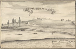 View of Beau Sejour from the S.E. 1755